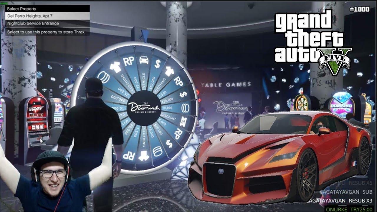 İLK ÇARKTA ARABA GELDİ (CASINO GÜNCELLEMESİ) | Grand Thieft Auto V